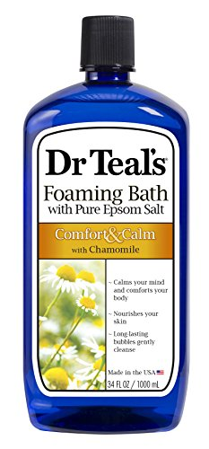 Dr. Teals Comfort and Calm Foaming Bath, Chamomile - 34 oz