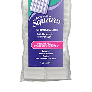 Swisspers Multi Care Cotton Squares with Spunlace for Cleaner Fresher Skin - 160 ea.