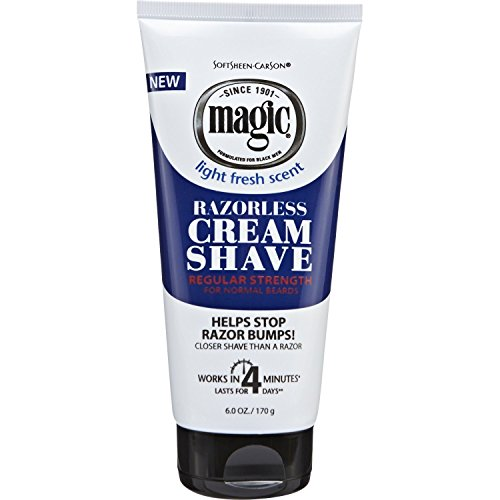 SoftSheen Carson Magic Razorless Cream Shave with Shea Butter, Regular - 6 OZ