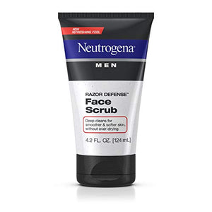 Neutrogena Razor Defense Face Scrub For Men - 4.2 oz