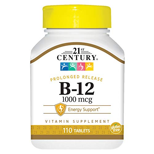 21st Century B-12 1000 mcg Prolonged Release Tablets - 110 E.