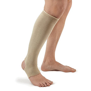 FUTURO Therapeutic Support Open Toe/Heel, Knee High, Firm Compression, Nude, M -1 ea