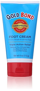 Gold bond foot moisturizing cream, triple action relief - 4 oz