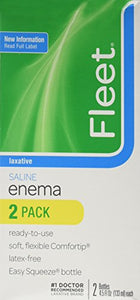 Fleet laxative saline Enema, Twin Pack - 9 oz