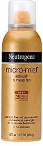Neutrogena Micromist tanning sunless spray, deep - 5.3 oz.