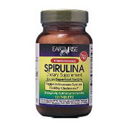 Earthrise - Spirulina Natural Green Super Food For Longevity 500 mg. - 90 Tablets