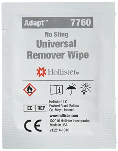 Universal remover wipes, for adhesives and barriers, HOL7760 - 50 ea