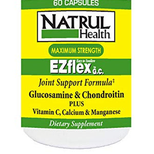 Nat - Rul Health  EZ Flex Maximum Strength Glucosamine Capsules - 60 ea