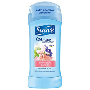 Suave Deodorant Invisible Solid, Sweet Pea & Violet - 2.6 oz