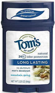 Toms Of Maine long lasting mens deodorant, Moutain spring - 2.25 oz.