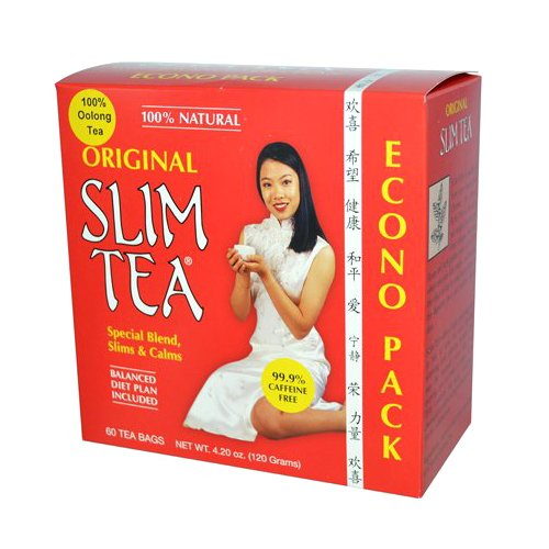 Hobe Labs Slim Tea 100% Natural Original - 60 Tea Bags.