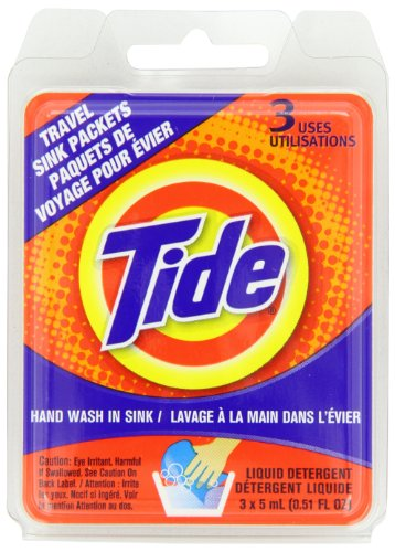 Tide Travel Sink Packets - 3 Each.