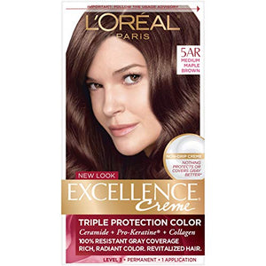 Loreal Excellence Hair Color Creme, 5AR Medium Maple Brown - 1 ea.