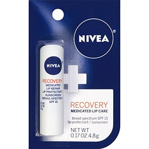 Nivea Kiss Of Recovery Medicated Lip Care, SPF 15 - 5 gm.