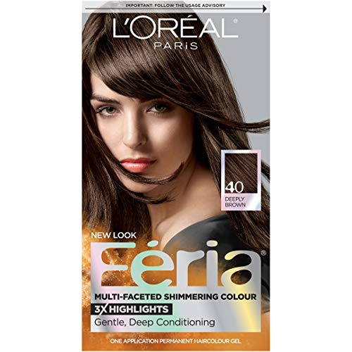 L'Oreal  Feria Multi-Faceted Shimmering Hair color,#40 Espresso Deeply Brown  - 1 ea