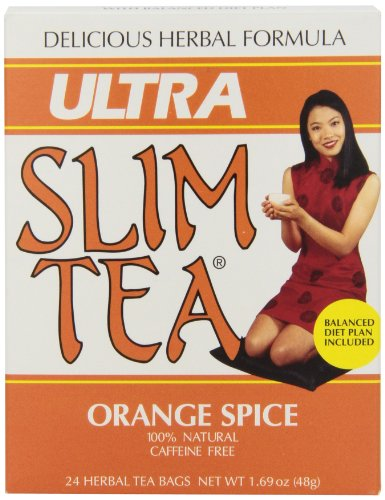 Hobe Labs - Ultra Slim Tea 100% Natural Caffeine Free Orange Spice - 24 Tea Bags.