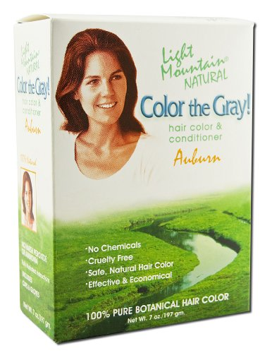 Light Mountain Henna - Color The Gray Hair Color & Conditioner Kit Auburn - 7 oz.