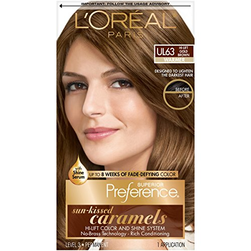 L'Oreal Superior Preference Sun-Kissed Caramels, Hi-Lift Gold Brown Ul63 - 1 ea