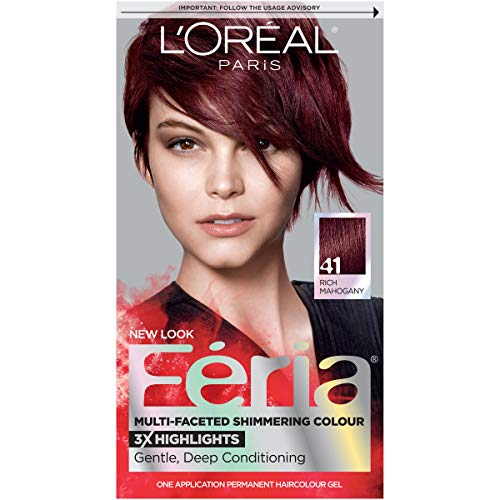 L'Oreal Feria Multi Faceted Shimmering Hair Color, 41 Crushed Garnet  -  1 ea.