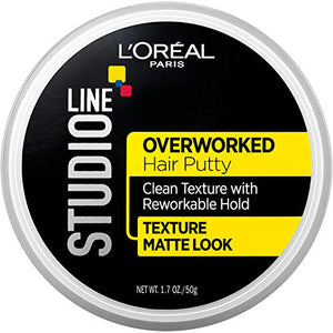 L'Oreal  Studio Line Overworked, Hair Putty Styling Gel -  48 gm