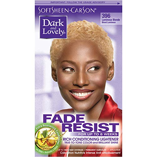 Softsheen Carson Dark and Lovely Permanent Hair Colors, Luminous Blonde 396  - 1 ea