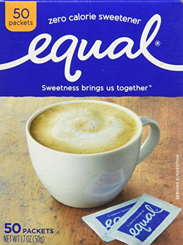 Equal 0 Calorie Sweetner Packets - 50 ea