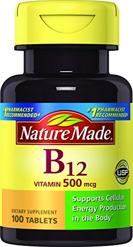 Vitamin B-12 500 Mcg supplement tablets, By Nature Made - 100 ea