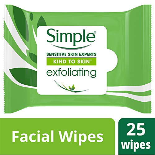 Simple Sensitive Skin Experts exfoliating facial wipes, kind to skin - 25 ea.