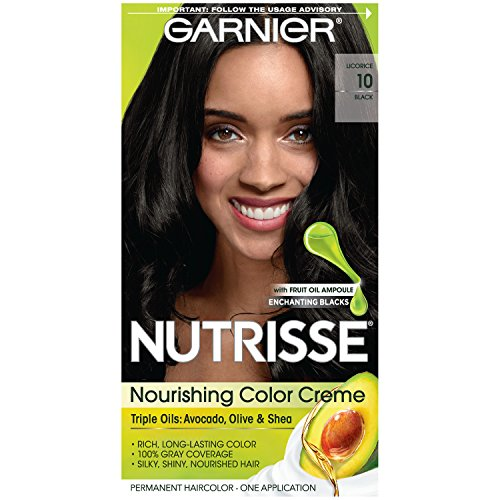 Garnier Nutrisse Permanent Creme Haircolor #10 Black - 1 ea