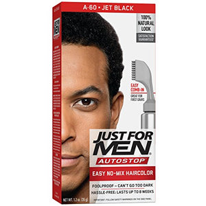 Just For Men AutoStop Foolproof Haircolor, Jet Black  A-60 - 1 ea.