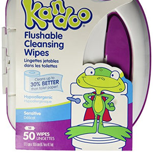 Pampers Kandoo flushable toddler wipes sensitive tub - 50 ea.