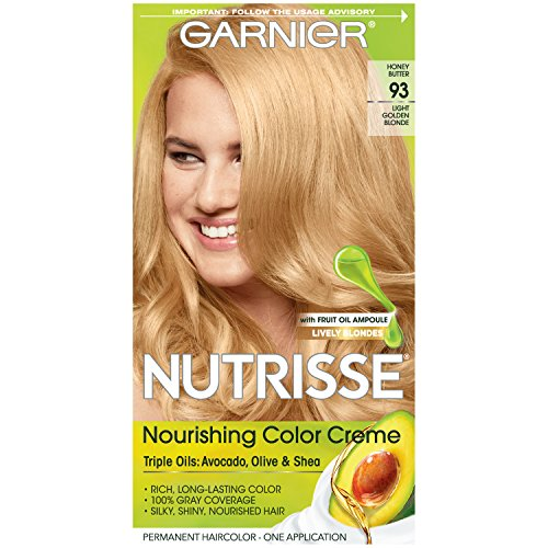 Garnier Nutrisse Permanent Haircolor, Light Golden Blonde 93 - 1 ea