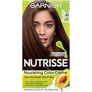 Garnier Nutrisse Permanent Haircolor, Dark Golden Brown 43 - 1 ea
