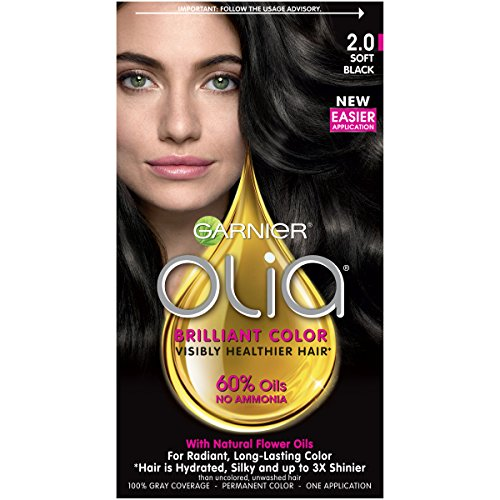 Garnier Fructis Olia Permanent Haircolor Oil Powered, Soft Black 2.0 - 1 ea