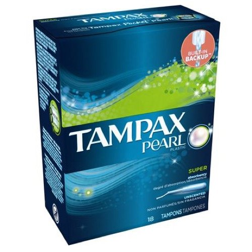 Tampax Pearl with Plastic Super Absorbency Tampons Applicator, Unscented - 36 ea