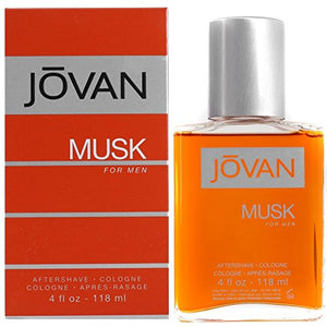 Jovan Musk Aftershave/Cologne,for Men - 118 ml.