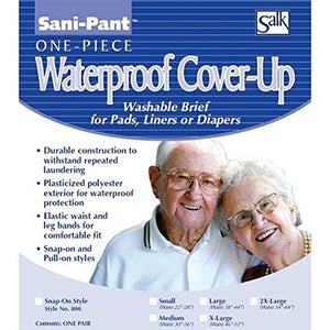 Sani-Pant Re-Usable Brief Snap-On, Extra Large Size, Waist Size : 46 Inches - 52 Inches - 1 ea