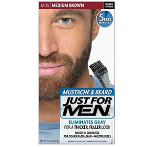 Just For Men Color Gel Mustache & Beard, Medium Brown M-35  - 1 ea.
