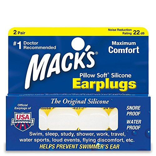 Macks pillow soft silicone ear plugs - 2 pair