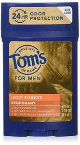 Tom's of Maine Men's Long Lasting Deodorant, Deep Forest, 2.25 Oz.