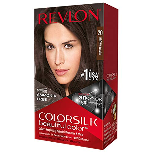 Revlon Colorsilk Beautiful Color, Brown Black 20 -  1  ea