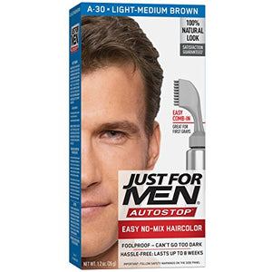 Just For Men AutoStop Hair Color, Light-Medium Brown A-30 - 1 ea.