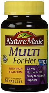 Nature Made Multi For Her Complete Multi Vitamin/Mineral Tablets - 90 ea