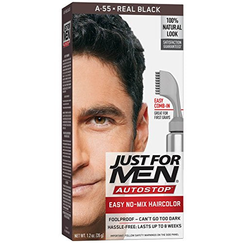 Just For Men Haircolor, Foolproof, Real Black A-55 - 1 ea.