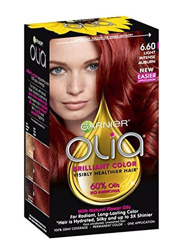 Garnier Olia Oil Powered Permanent Haircolor, Light Intense Auburn 6.60 - 1 ea