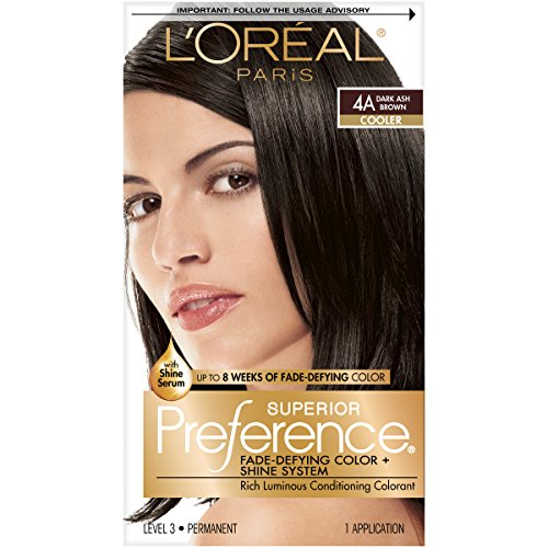 L'Oreal Superior Preference Fade Defying, Dark Ash Brown 4A  - 1 ea.