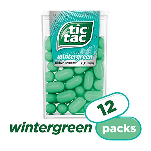 Tic tac winter green artificially flavored mints - 12 pack.