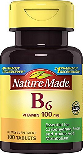 Vitamin B-6 100 Mg tablets, By Nature Made - 100 ea