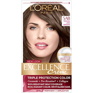 Loreal Excellence Color Creme, Mocha Ash Brown 5AB - 1 ea.