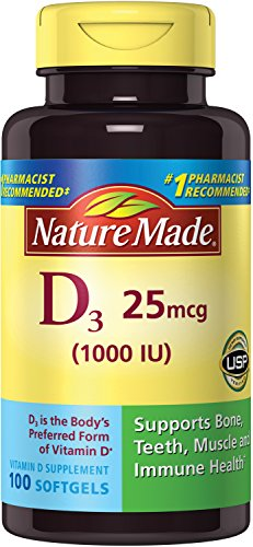 Nature Made Vitamin D3 1000 IU, Liquid Softgels - 100 ea